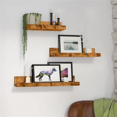 Rak Kayu Hiasan Dinding Home Decoration Shelf Home loon peak atterberry rustic luxe 3 floating shelf