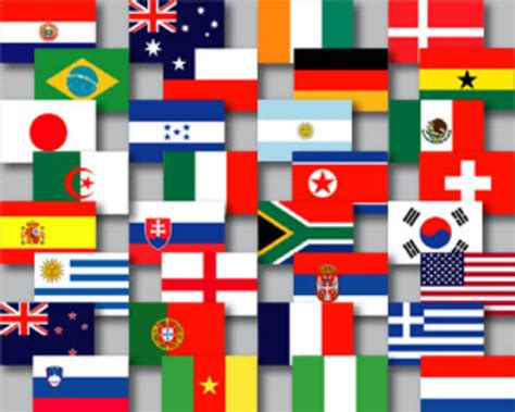 flags of the world johannesburg soccer all 32 flags of the 2010 world cup countries on a
