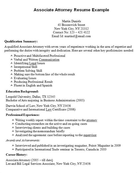 Attorney Cover Letter Sle Associate Lawyer Resume Exle Ideas Sle Essay Questions For