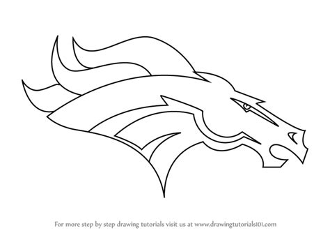 nfl symbols coloring pages learn how to draw denver broncos logo nfl step by step