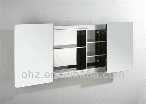 modern wall mounted sliding door bathroom cabinet mirror