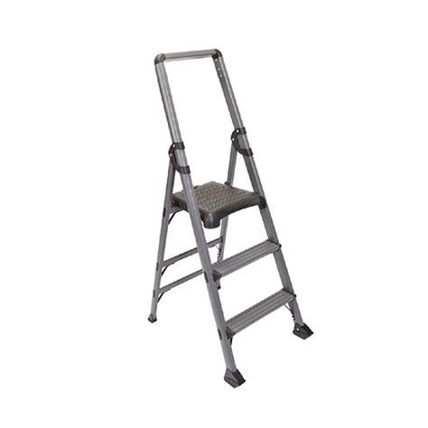 3 step stool 300 lb capacity xtend climb 3 step modstep aluminum step ladder with 300