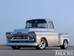 1958 chevy apache pickup truck custom front bumper