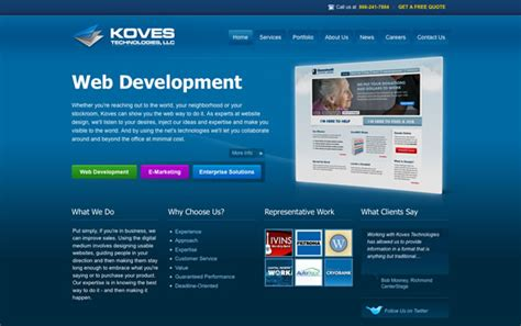 15 great website layout ideas for inspiration 网页设计作品欣赏 蓝色调网页作品 第6页 天极网