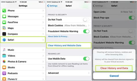 how to check safari history on iphone remove clear safari browsing history in ios 9 iphone