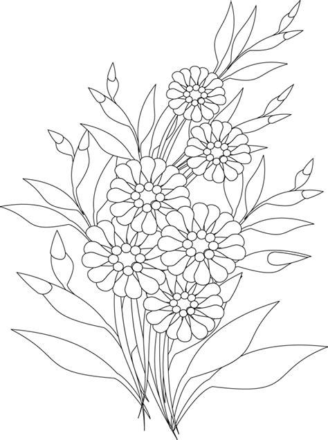 Coloriage, un bouquet de fleurs - Dory.fr coloriages