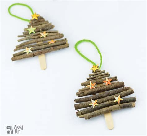 craft stick ornaments popsicle stick and twigs tree ornaments easy