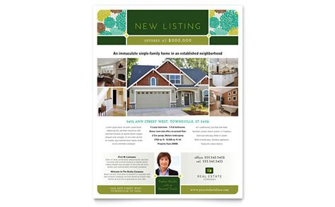 house brochure template real estate flyer template design