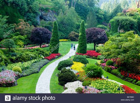 Vancouver Gardens by Sunken Garden At The Butchart Gardens Brentwood Bay