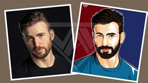 tutorial vector art photoshop chris evans timelapse