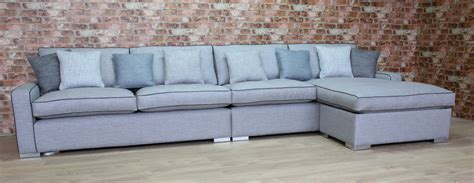 sofa with chaise end cambridge 6 str sofa with chaise end tailor made sofas