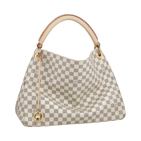 Are Louis Vuitton Bags Handmade - louis vuitton artsy mm bag in damier azur canvas all