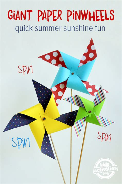 How To Make A Pinwheel With Paper - n easy paper pinwheels