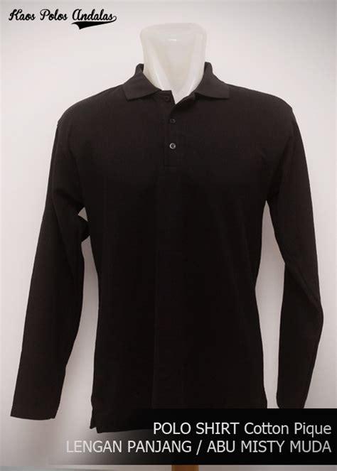 Kaos Polos Model Polo Shirt Hitam kaos polos kerah polo shirt polos lengan panjang grosir
