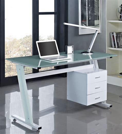 computer desk pc table office furniture work station glass top  sides drawers ebay