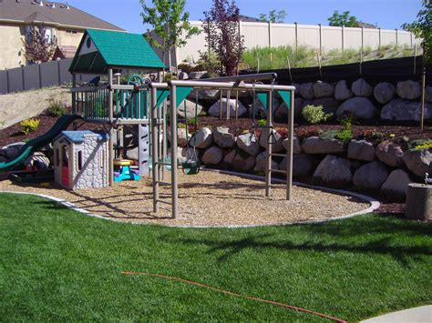 backyard play ground splash pad chris jensen landscaping in salt lake city
