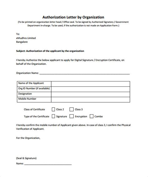 authorization letter for bank template sle bank authorization letter 9 free exles