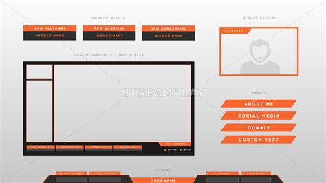 twitch layout guide twitch overlays stream overlays fit for obs twitch