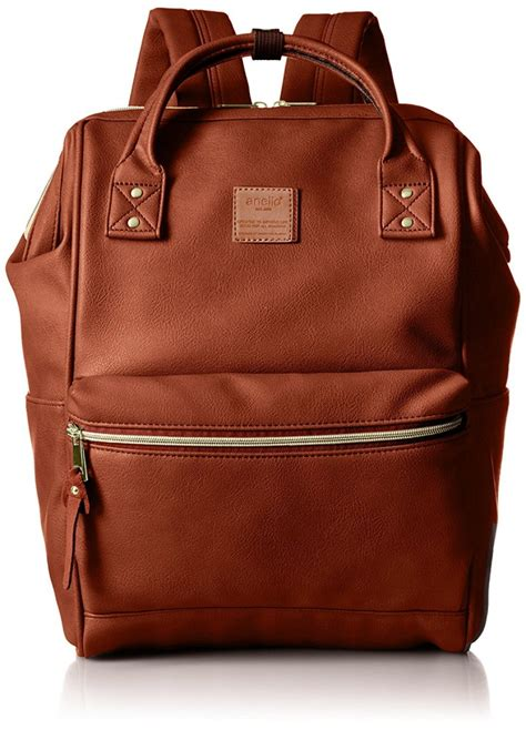 anello japan synthetic leather backpack large at b1211 brown f s ebay