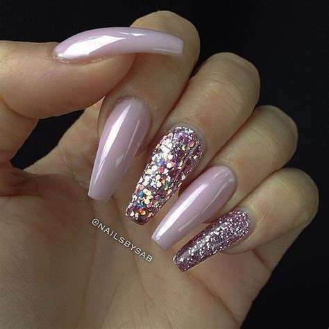 Nail Styles by Baby Pink Pink Holographic Glitter Pink Glitter
