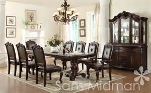 Formal Dining Room Sets For 12 by New Kira 12 Pc Formal Dining Set Table W 2 Leaves 10