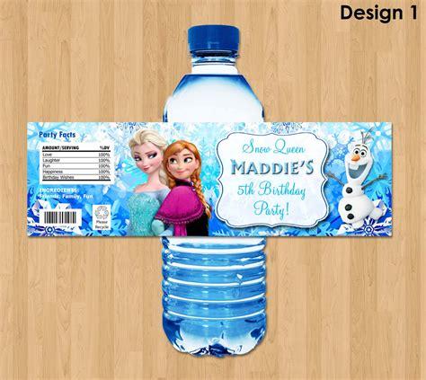 frozen water bottle wrapper olaf birthday water bottle frozen bottle labels disney frozen water bottle labels
