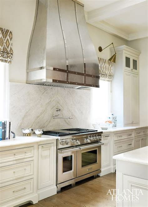 small white kitchen with steel hood romantic french kitchens french kitchen cantley and