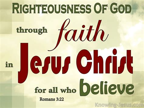 20 At Faith 3 Days Only by Romans 3 22 Righteousness By Faith In Jesus