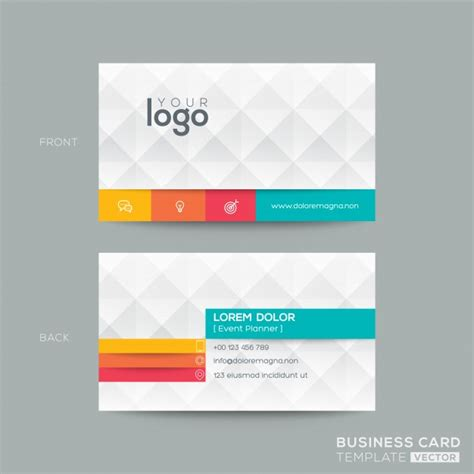 business name card template clipart polygonal business card with 3d effect vector free