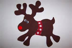 fabric applique template only christmas reindeer by etsykim