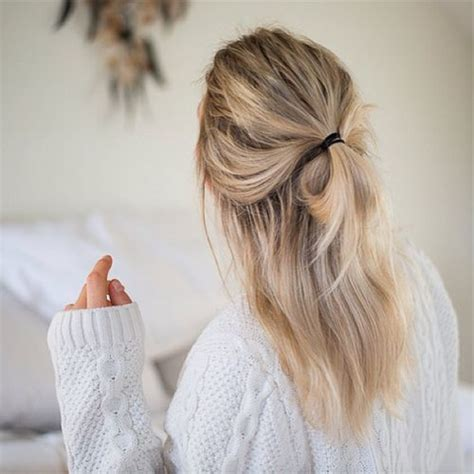 hairstyles for school lazy half up half down h a i r pinterest lazy day hair
