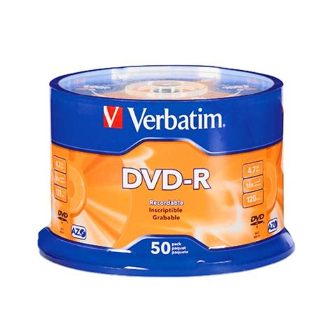 Dvd Verbatim Tb 50 verbatim dvd r 4 7 gb 120 min 16x 50 pieces in cakebox