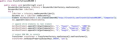 xml tutorial element attribute java simple way to write xml dom file in java crunchify