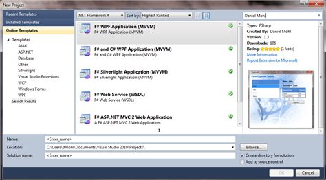 templates for visual studio 2010 random ravings of a red headed code monkey f templates