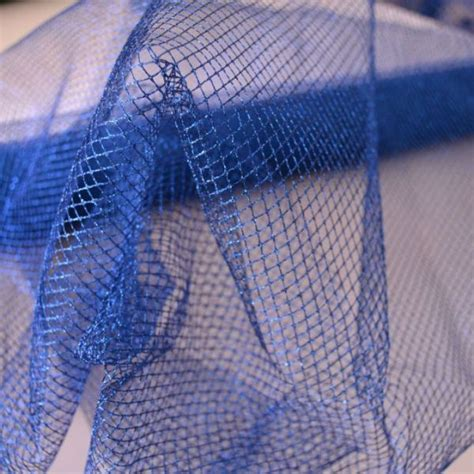 tessuto rete lurex blu prezzo al metro