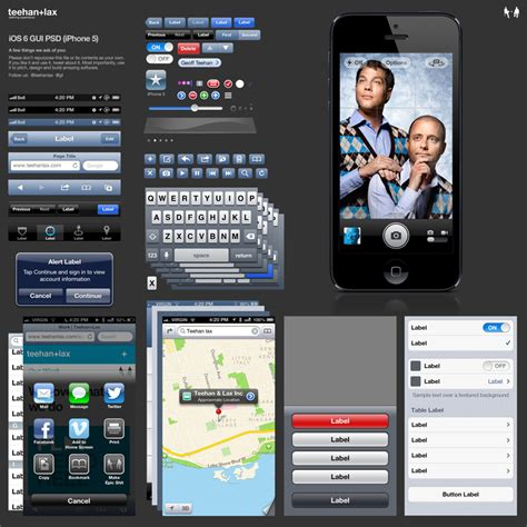 iphone design template psd free download teehan lax ui design templates for iphone 5 and ios 6