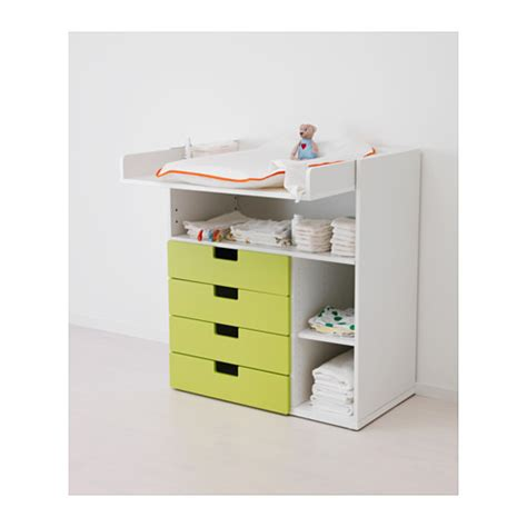 Black Changing Table With Drawers Stuva Changing Table With 4 Drawers White Black 90x79x102 Cm Ikea