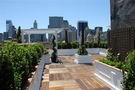 Roof Deck Garden by Nyc Roof Decks New York Roof Top Decking Ny Roofscapes