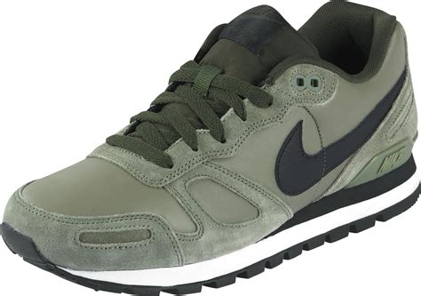 nike air shoes nike air waffle trainer leather shoes olive black