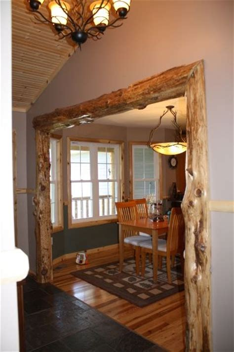 Dining Room Entry Casing This Rustic Trim Would Look Great At Cabin To Separate