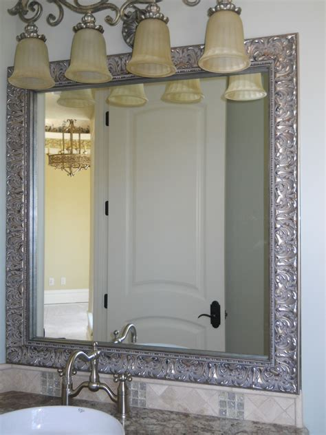 Framed Bathroom Vanity Mirrors Framed Mirrors For Bathrooms Decofurnish