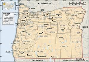 map of oregon with counties oregon counties encyclopedia children s