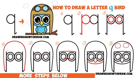tutorial html simple how to draw a cartoon owl step by step for kids