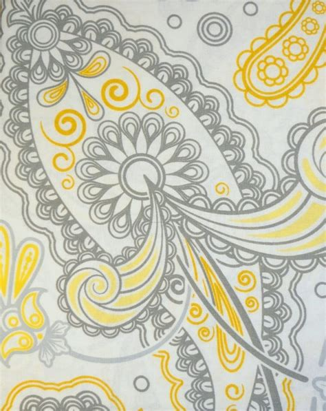 yellow paisley shower curtain floral paisley fabric shower curtain grey yellow modern