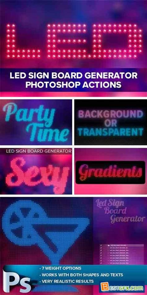 pattern generator photoshop action creativemarket led sign board generator 1126447 187 free