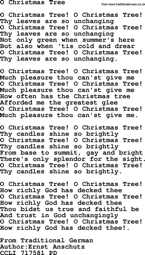 what are the words to o christmas tree powerpoints song o tree lyrics ppt for church projection etc and pdf