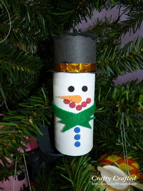 Snowman Toilet Paper Roll Craft - crafty crafted 187 archive crafts for children