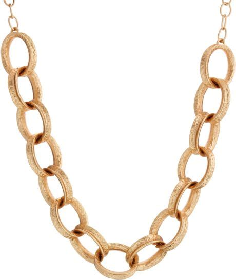 kenneth chunky chain link necklace in gold lyst