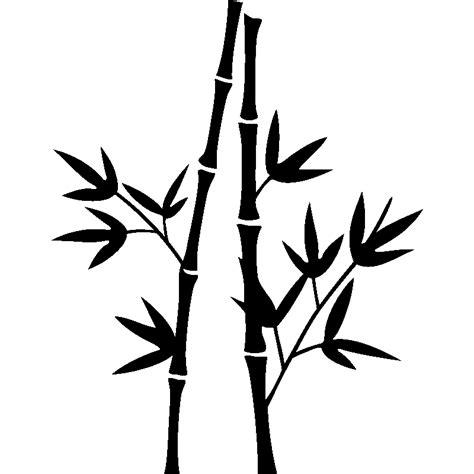 Stickerstiker Kaca Bambu 3 stickers muraux fleurs sticker design deux tiges de bambous ambiance sticker
