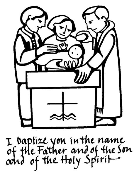 coloring pages baby baptism baptism symbols clipart best